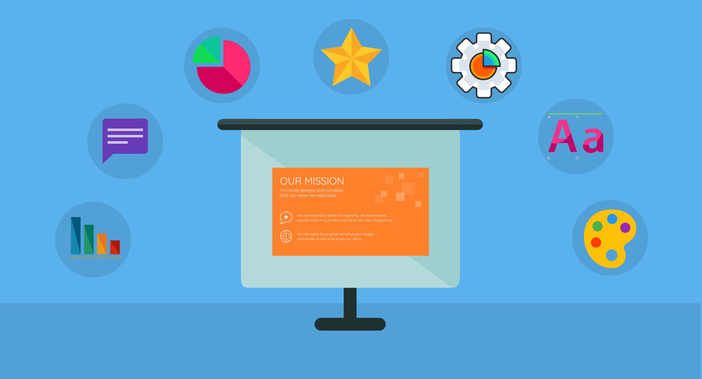 Modeles de presentation blog header